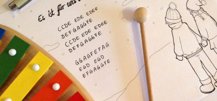 FREEBIE: Es ist für uns eine Zeit angekommen – Noten für Xylophone